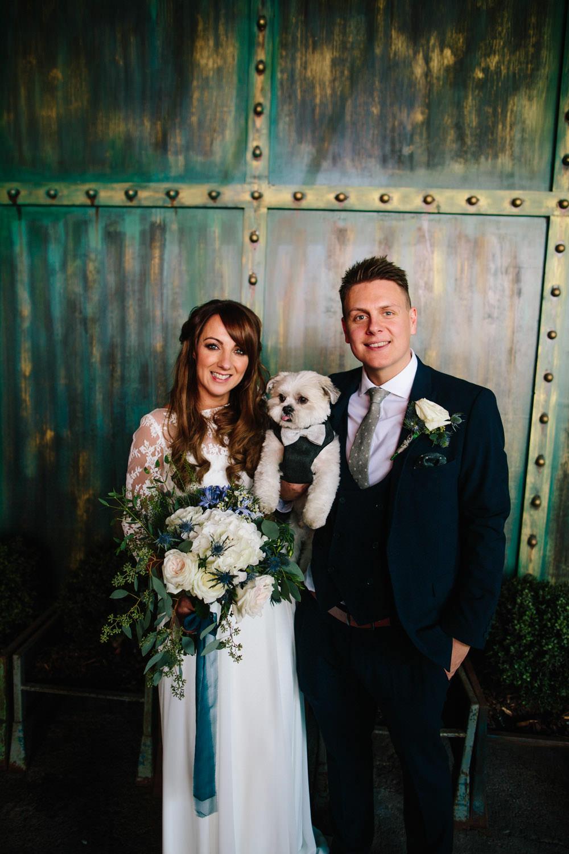 Indie Warehouse Wedding Dan Hough Photo Dog Pet