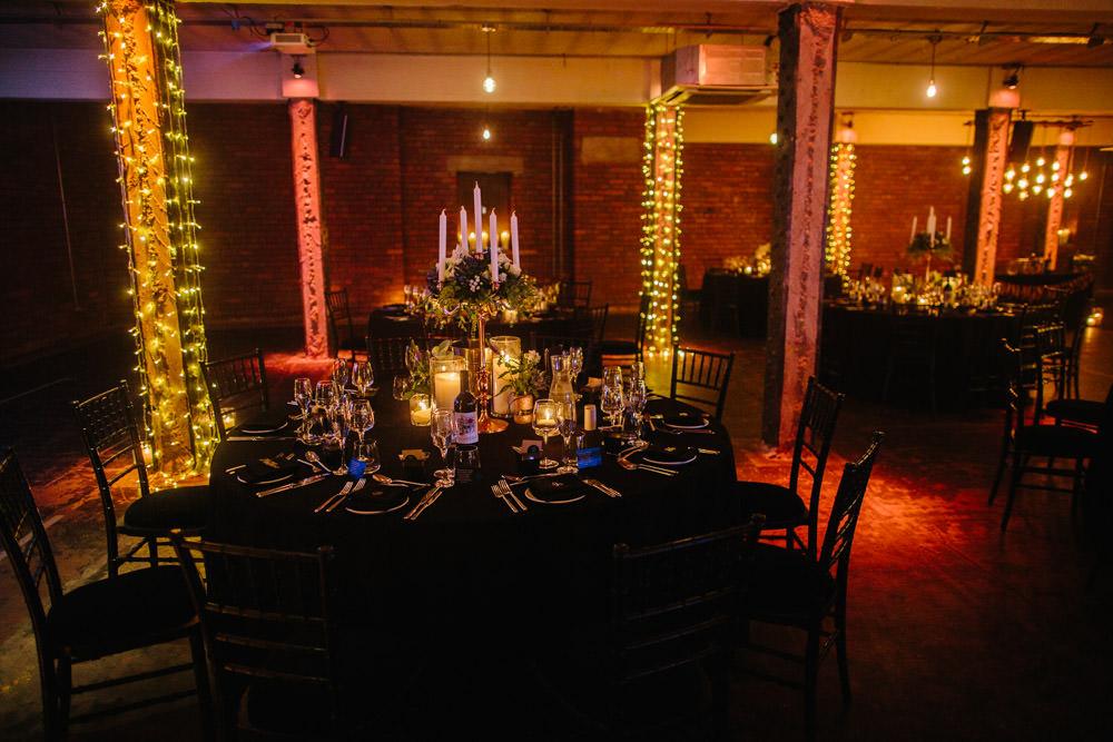 Festoon Lights Lighting Decor Indie Warehouse Wedding Dan Hough Photo