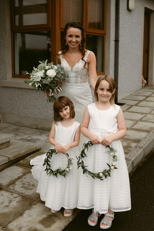 Flower Girls Dress Hoops Ivory Pavilion Wedding Iain Irwin Photography
