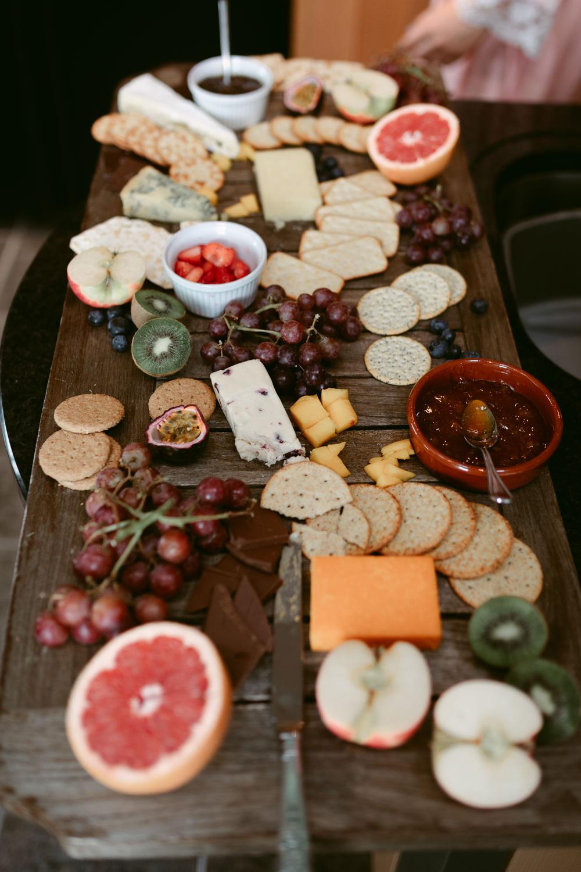 Breakfast Grazing Table Sharing Platter Food Ivory Pavilion Wedding Iain Irwin Photography