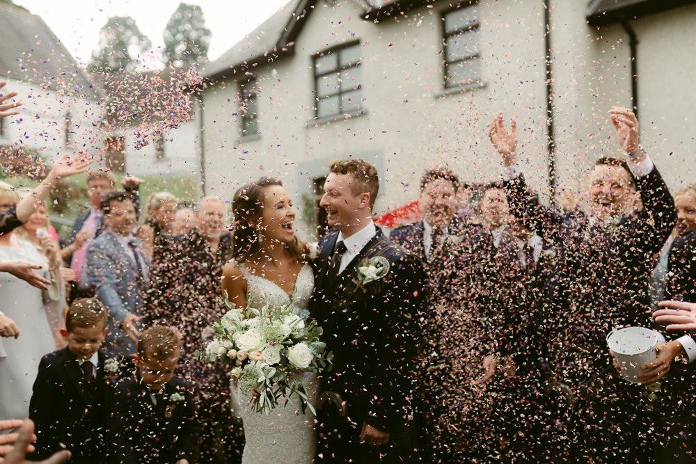 Confetti Throw Ivory Pavilion Wedding Iain Irwin Photography