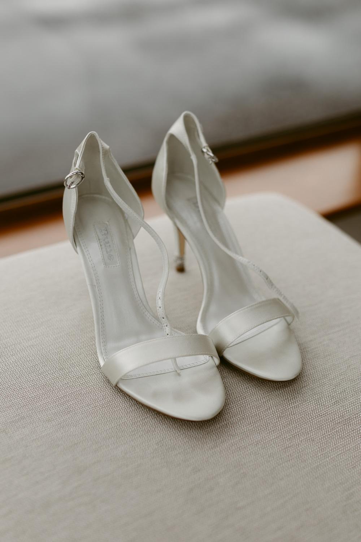 Bride Bridal Shoes Ivory Pavilion Wedding Iain Irwin Photography