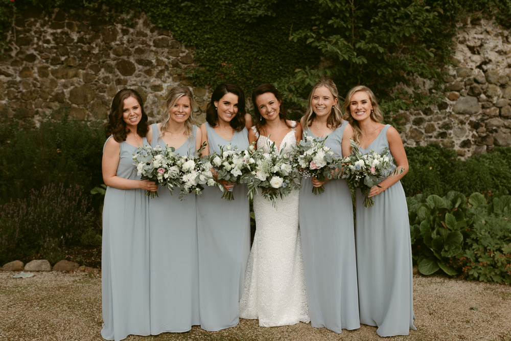 Bridesmaids Bridesmaid Dress Dresses Pale Blue Ivory Pavilion Wedding Iain Irwin Photography