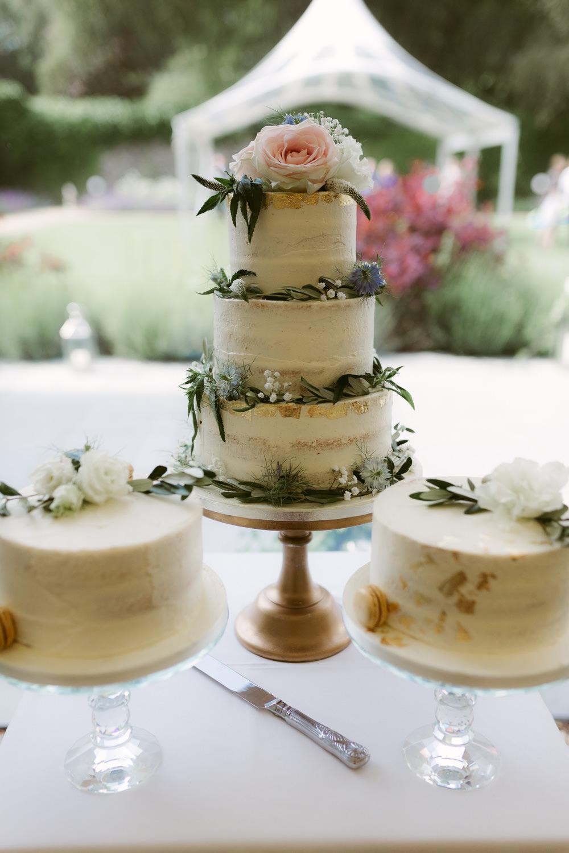 Buttercream Cake Foliage Greenery Gold Leaf Ivory Pavilion Wedding Iain Irwin Photography