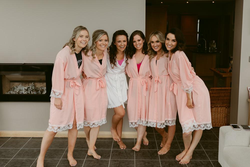 Bride Bridal Dressing Gowns Robes Ivory Pavilion Wedding Iain Irwin Photography