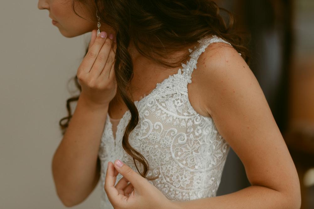 Bride Bridal Dress Gown Tara Lauren Straps Ivory Pavilion Wedding Iain Irwin Photography