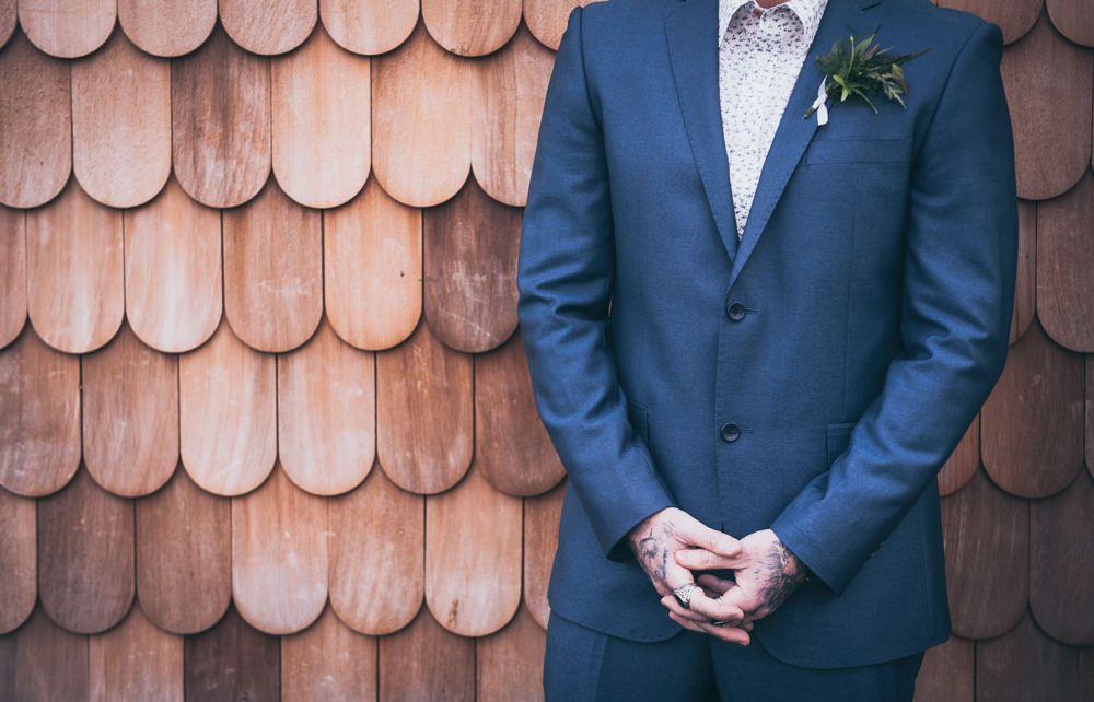 Groom Suit Blue Modern Wedding Ideas Cat Arwel Photography