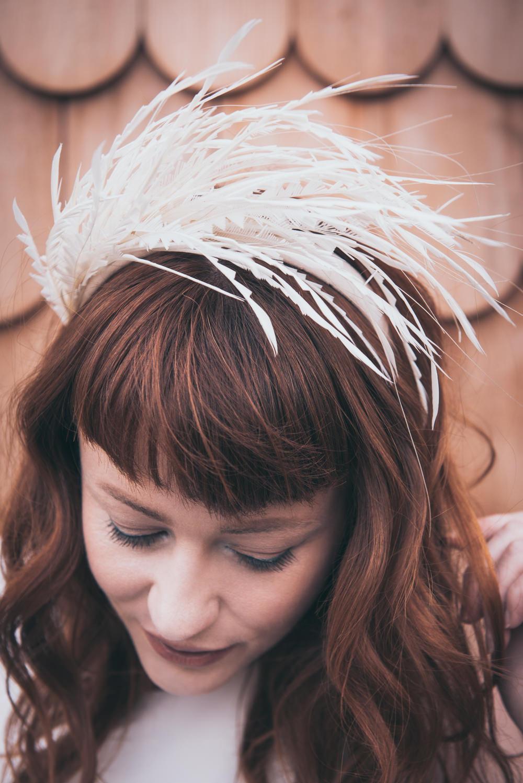 Bride Bridal Hair Accessory Modern Wedding Ideas Cat Arwel Photography