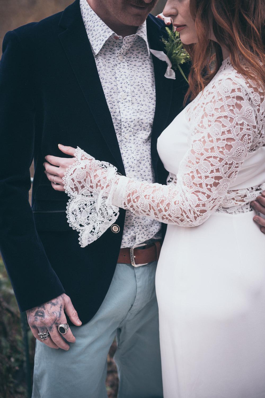 Dress Gown Bride Bridal Lace Sleeves Andrea Hawkes Bridal Modern Wedding Ideas Cat Arwel Photography