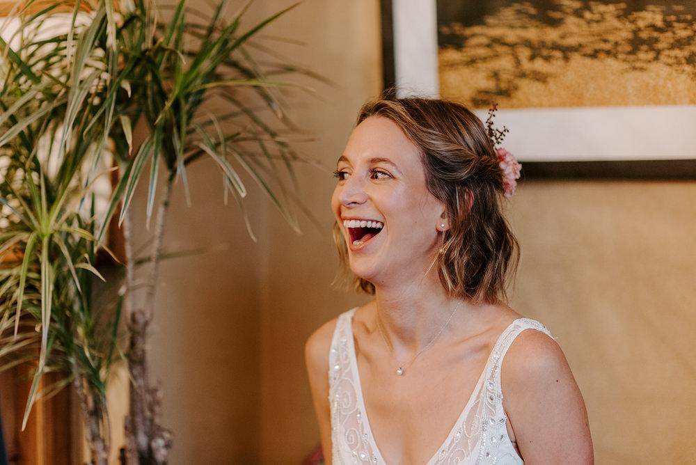 Bride Bridal Hair Make Up NYE Wedding Ellie Gillard Photography
