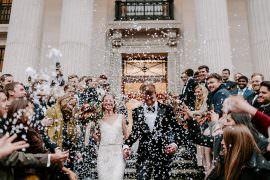 NYE Wedding Ellie Gillard Photography Confetti Throw