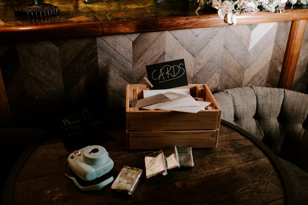 Card Box NYE Wedding Ellie Gillard Photography
