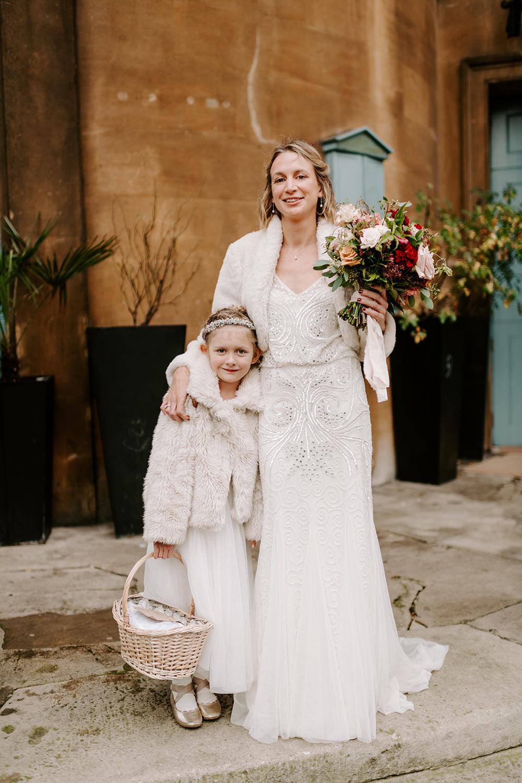 Flower Girl Dress Basket NYE Wedding Ellie Gillard Photography