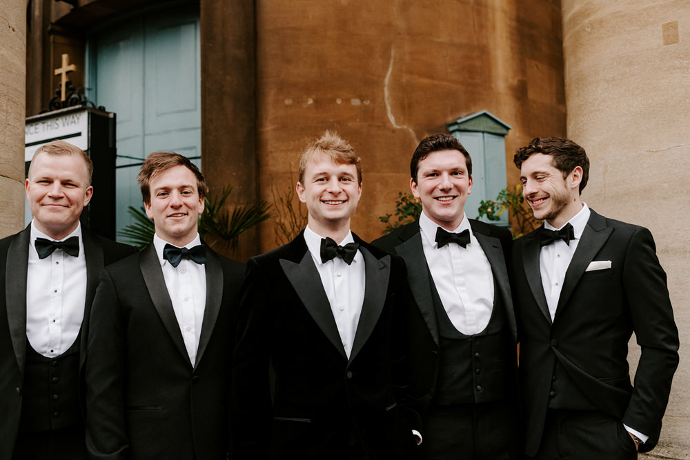 Groom Groomsmen Tux Tuxedo Bow Tie NYE Wedding Ellie Gillard Photography
