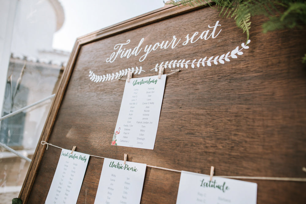Table Plan Seating Chart Portugal Destination Wedding The Lovers Imagery