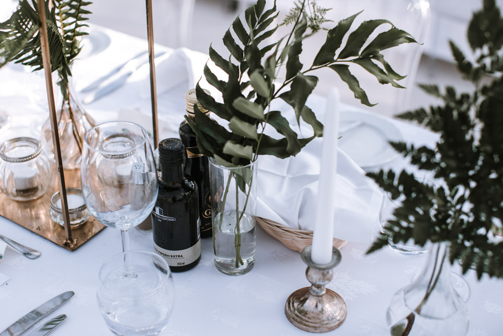 Table Decor Greenery Candles Portugal Destination Wedding The Lovers Imagery
