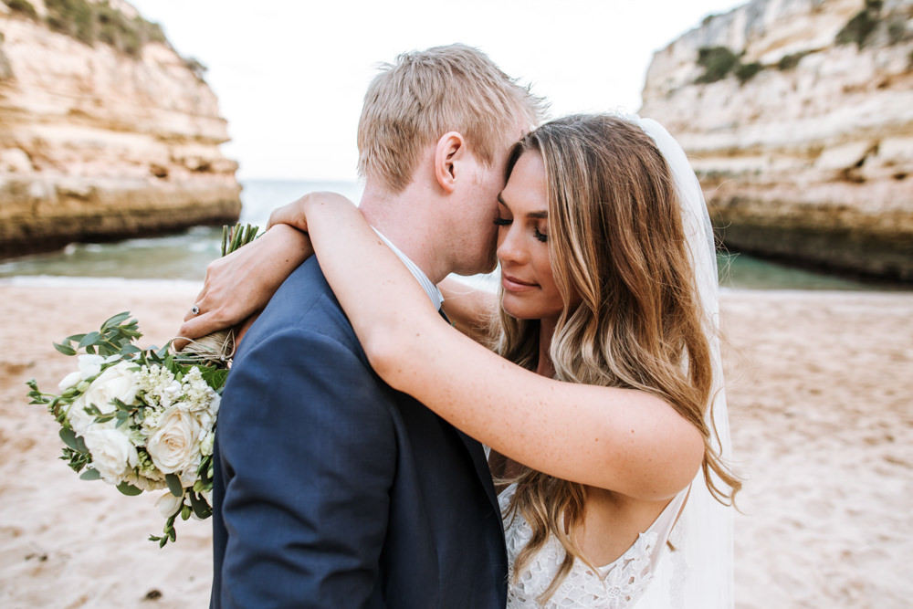 Bride Bridal Hair Waves Tousled Portugal Destination Wedding The Lovers Imagery