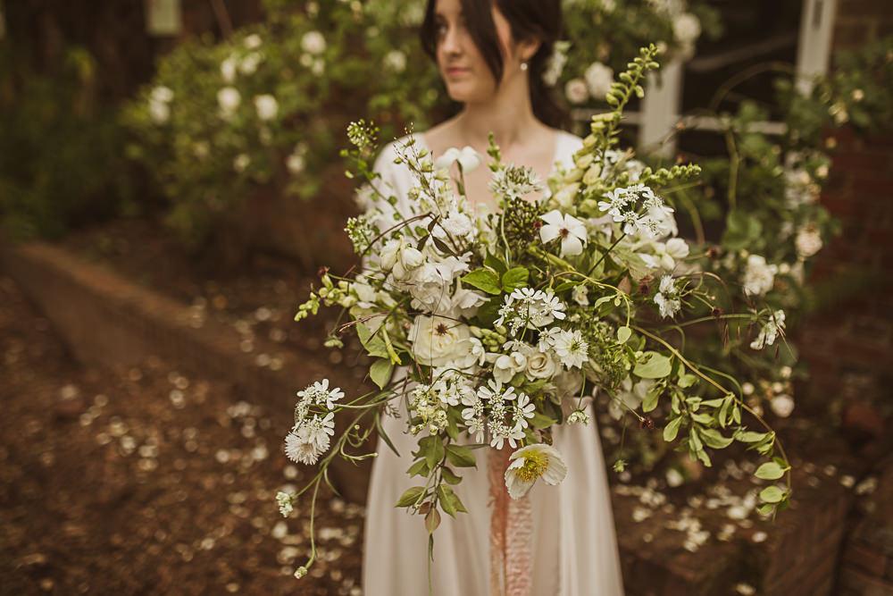 Bouquet Flowers Bride Bridal White Greenery Foliage Small Wedding Ideas The Springles