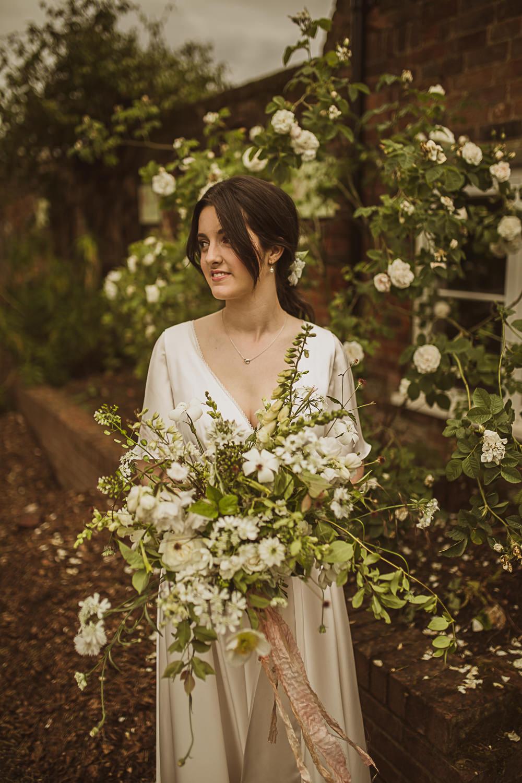 Small Wedding Ideas The Springles Bouquet Flowers Bride Bridal White Greenery Foliage