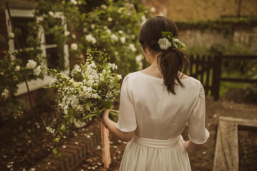 Bride Bridal Hair Style Up Do Ponytail Small Wedding Ideas The Springles