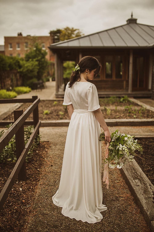 Dress Gown Bride Bridal Wrap Satin Sophie Rose Bridal Small Wedding Ideas The Springles