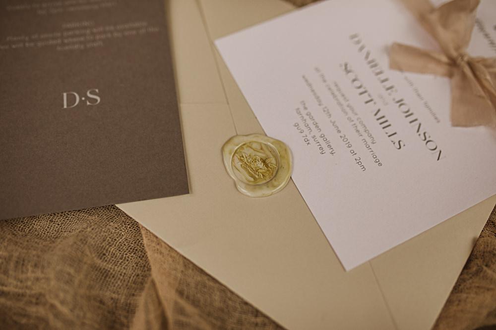 Stationery Invite Invitation Wax Seal Small Wedding Ideas The Springles
