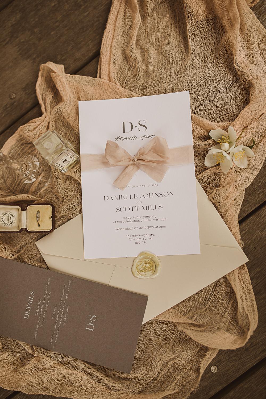 Stationery Invite Invitation Wax Seal Ribbon Small Wedding Ideas The Springles