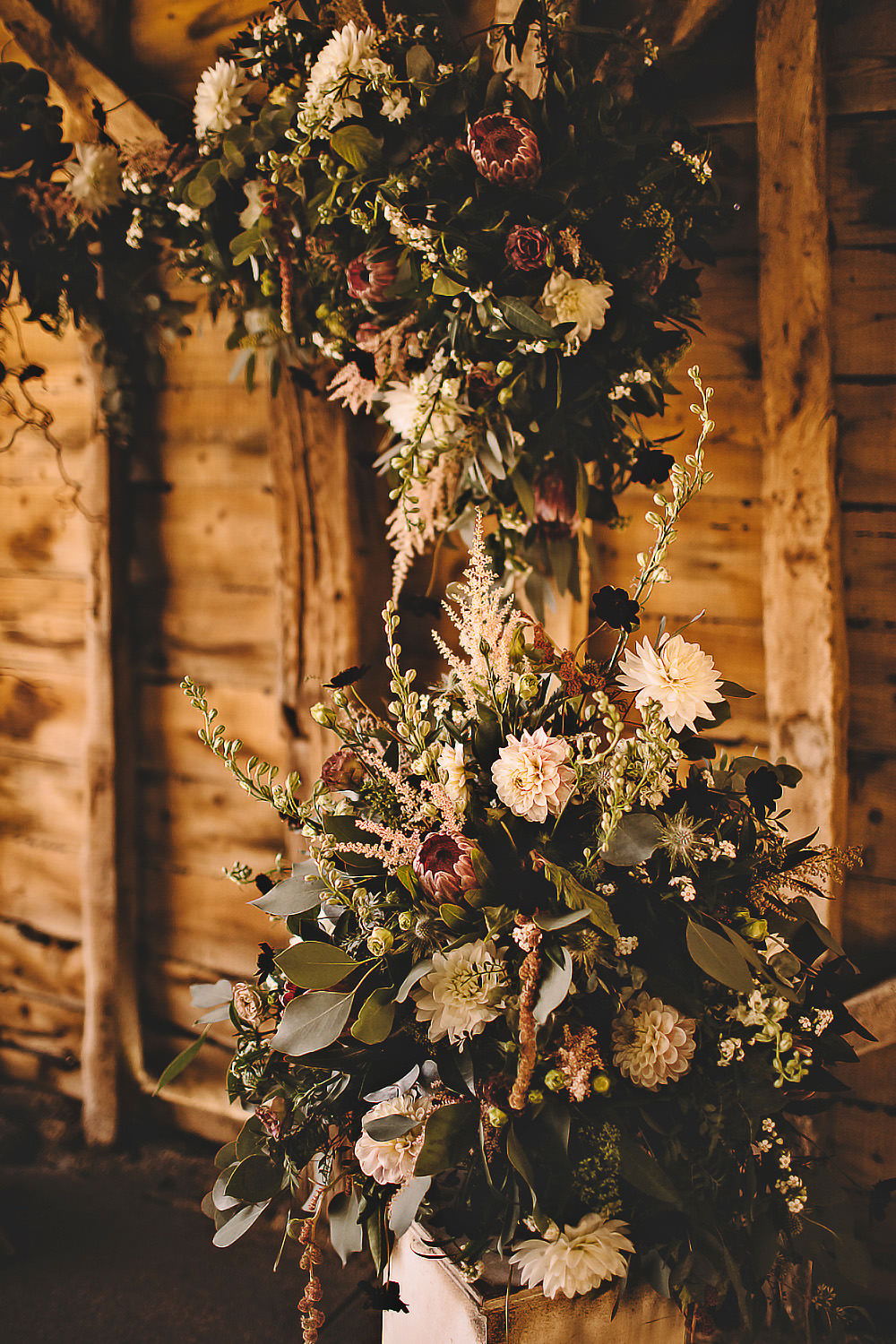 Ceremony Aisle Flower Arch Backdrop Greenery Suffolk Barn Wedding Carrie Lavers Photography