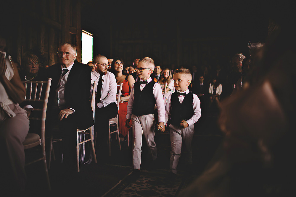Page Boys Waistcoat Bow Tie Suffolk Barn Wedding Carrie Lavers Photography