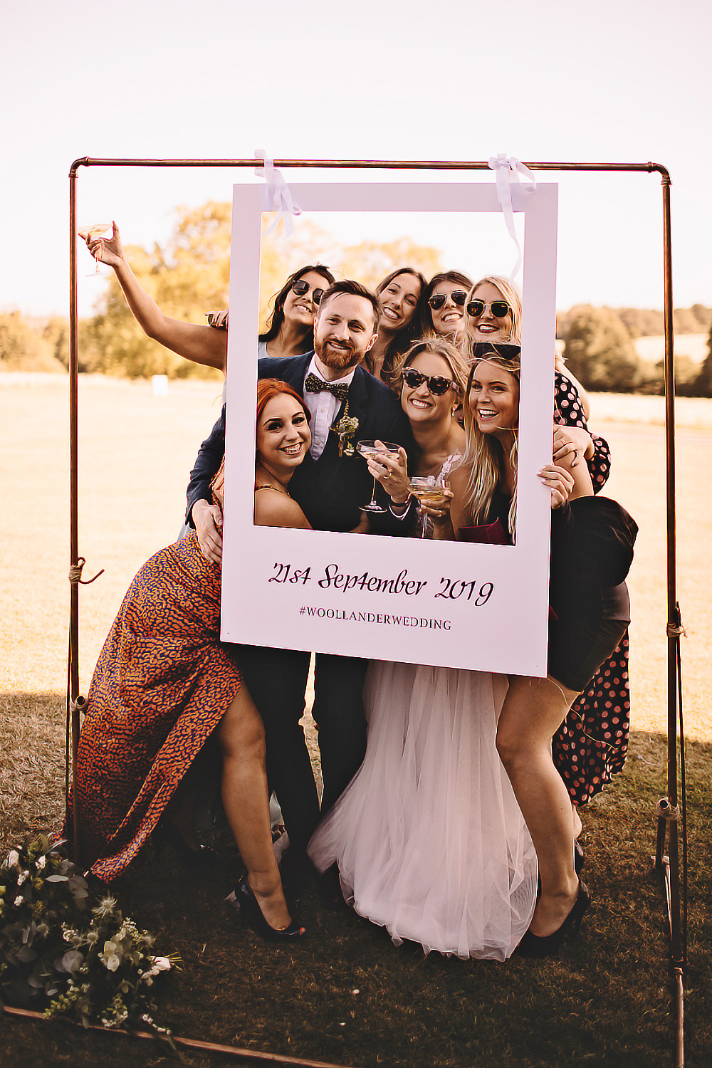 Photo Booth Cardboard Cut Out Suffolk Barn Wedding Carrie Lavers Photography