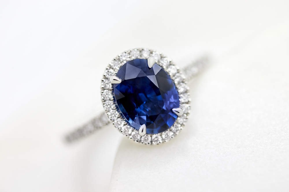 Colours of Sapphires Engagement Ring Wedding Band Blue