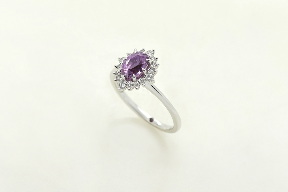 Colours of Sapphires Engagement Ring Wedding Band Purple