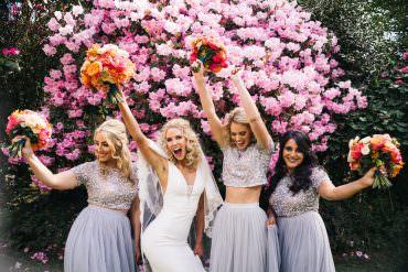 Sequin Top Bridesmaid Dress Dresses Bridesmaids Grey Bright Wedding Sally T Photography