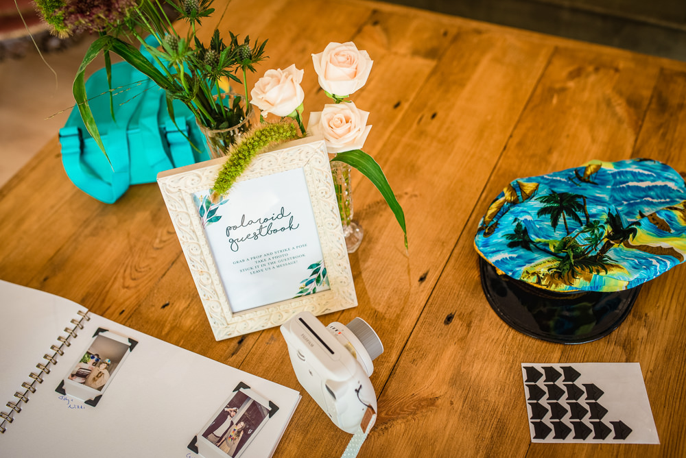 Polaroid Guest Book Colville Hall Wedding GK Photography