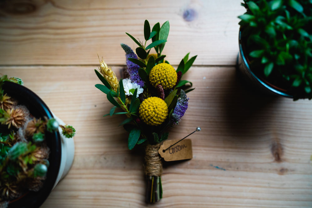 Buttonhole Flowers Eclectic Wedding Paul and Tim Photographers