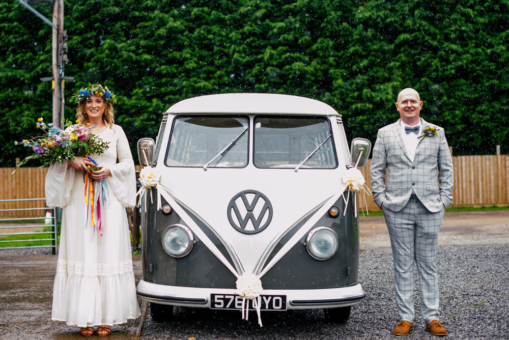 VW Campervan Transport Eclectic Wedding Paul and Tim Photographers