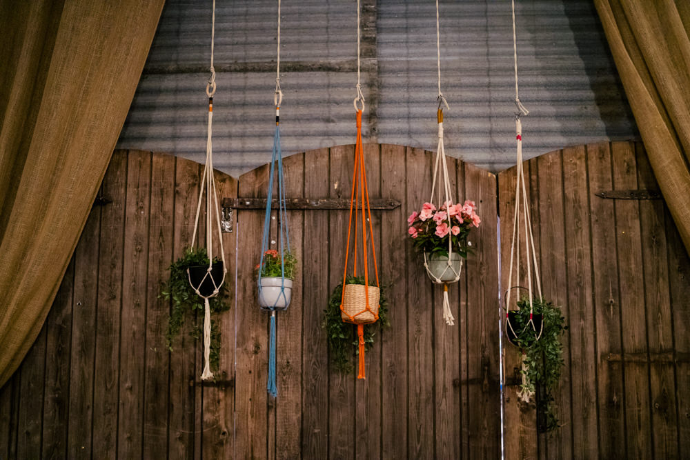 Macrame Plant Pots Eclectic Wedding Paul and Tim Photographers