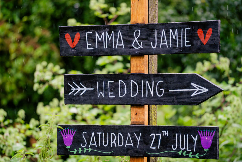 Sign Signs Signpost Eclectic Wedding Paul and Tim Photographers
