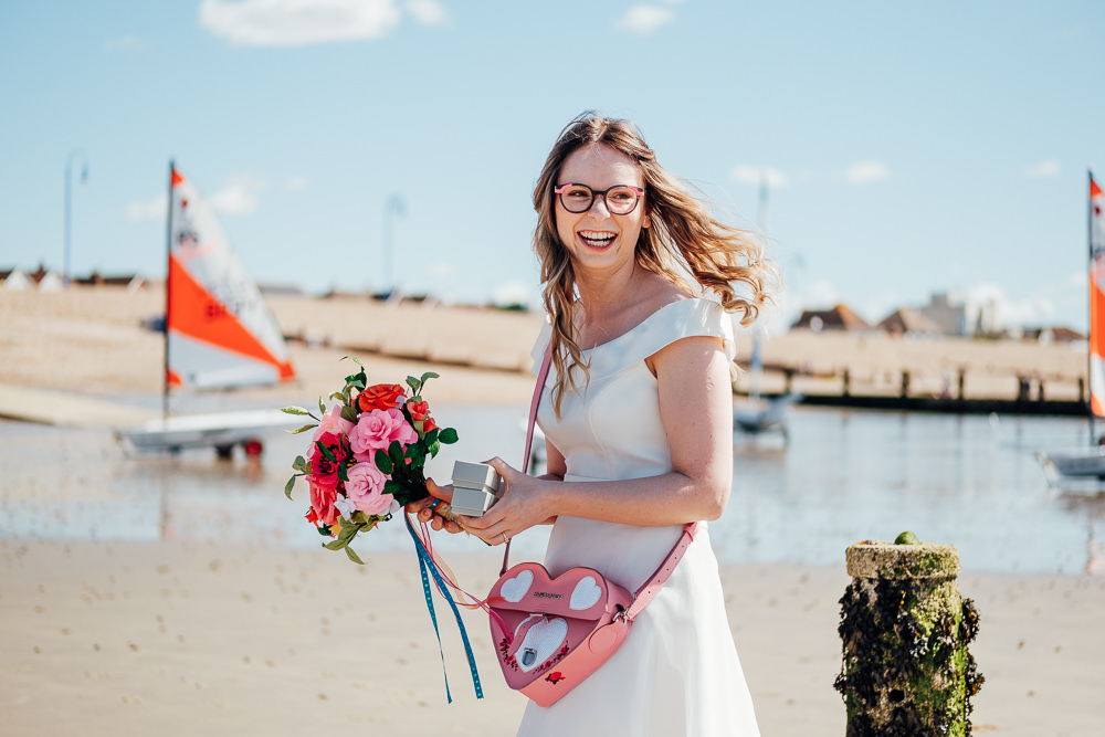 Dr Martens Bag Bride Bridal Dress Gown Short Tea Length Pandemic Wedding Anna Pumer Photography
