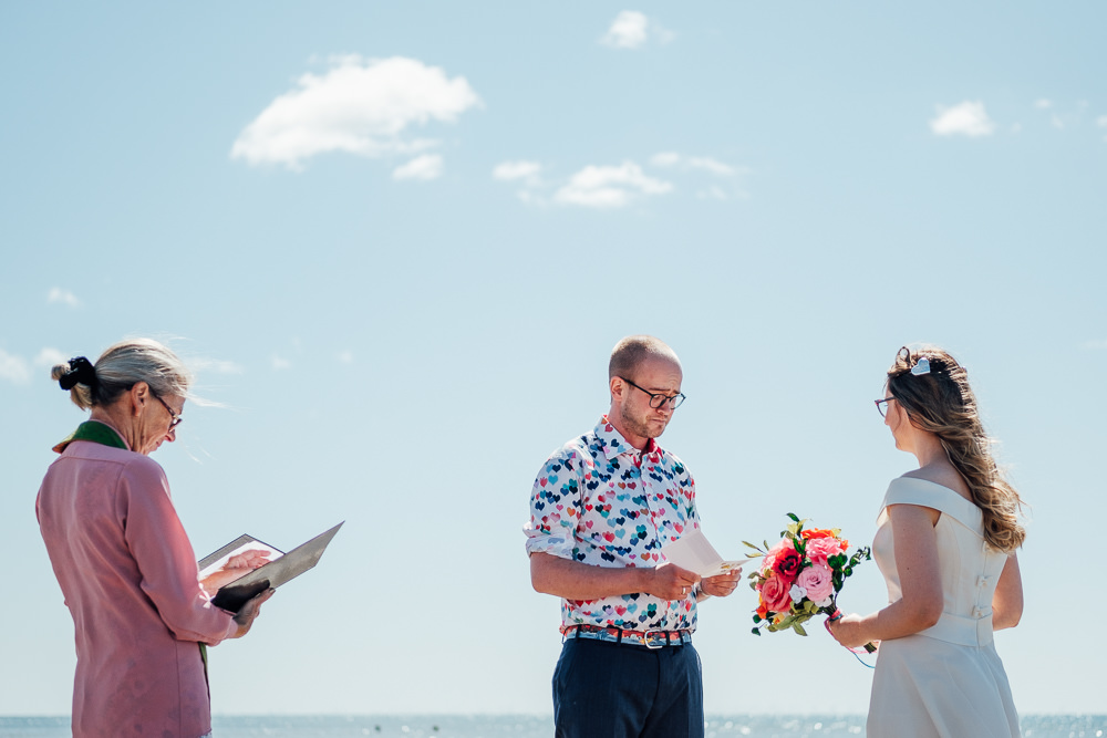 Beach Blessing Ceremony Pandemic Wedding Anna Pumer Photography