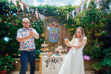 Pandemic Wedding Date Becomes An Un-Wedding Beach Blessing & Reception at Home