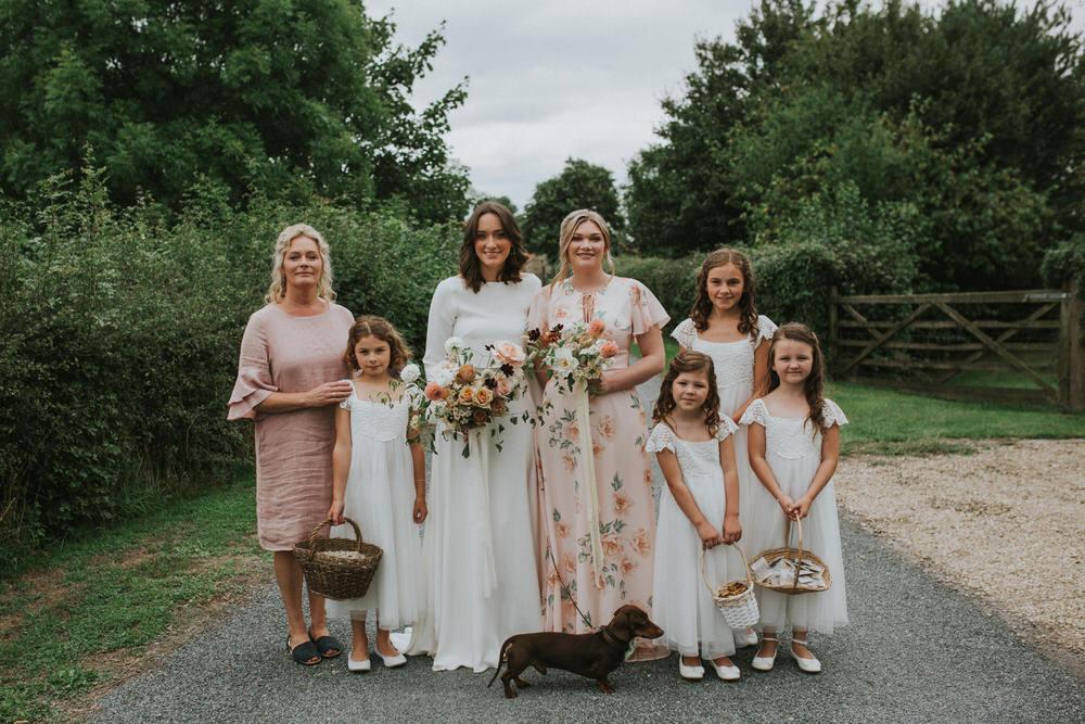 Bridesmaids Bridesmaid Dress Dresses Mix Match Pink Pennard Hill Farm Wedding MT Studio