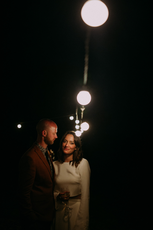 Festoon Lights Pennard Hill Farm Wedding MT Studio