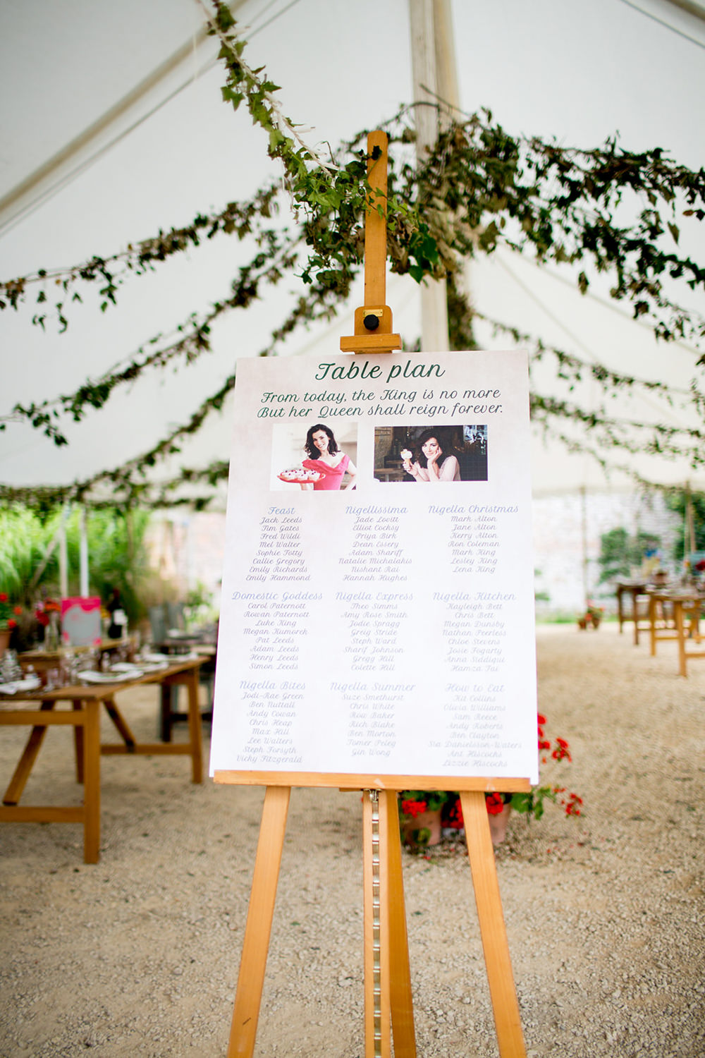 Table Plan Seating Chart Photo Pythouse Kitchen Garden Wedding Jessica Hayman Photography