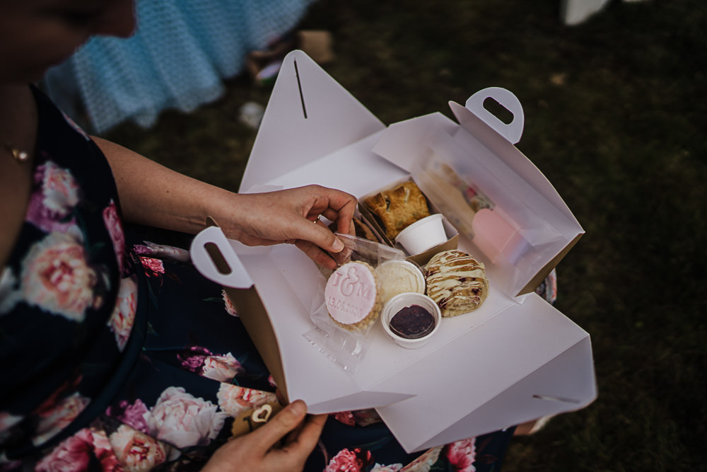 Picnic Box Socially Distanced Wedding Tiffany Gage Photography