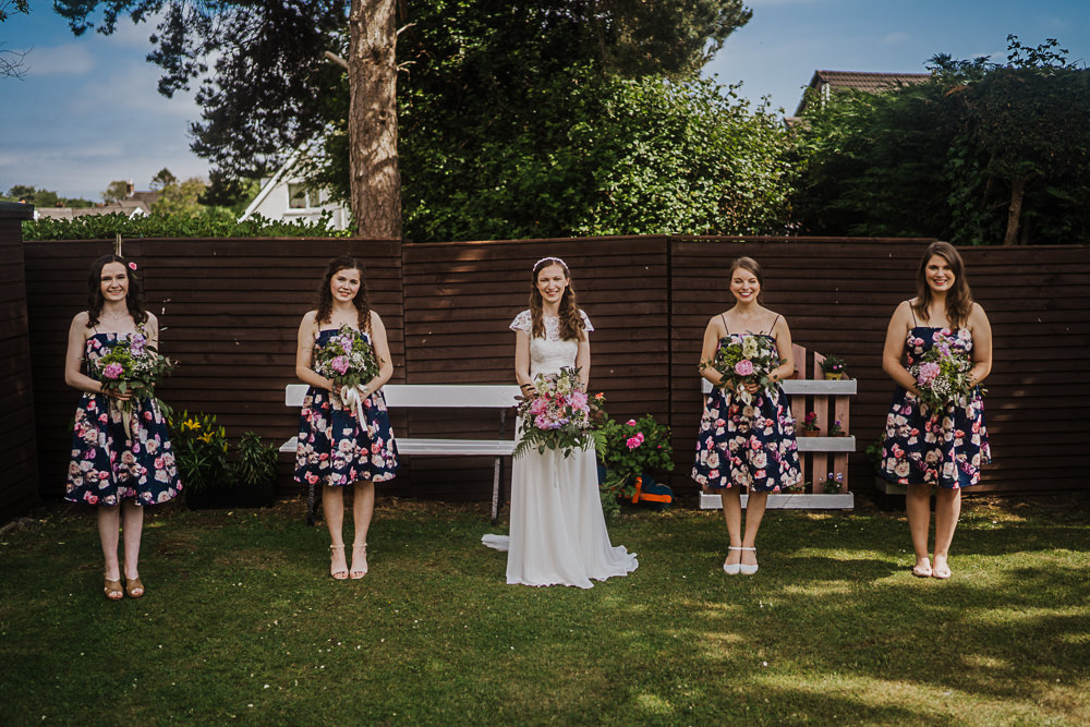 Bridesmaids Bridesmaid Dress Dresses Floral Socially Distanced Wedding Tiffany Gage Photography