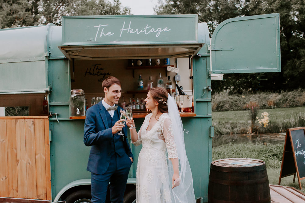 Horse Box Bar Drinks Whimsical Wedding Ideas Charlotte Lucy Photography