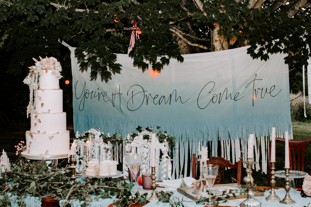 Banner Sign Backdrop Signage Signs Whimsical Wedding Ideas Charlotte Lucy Photography