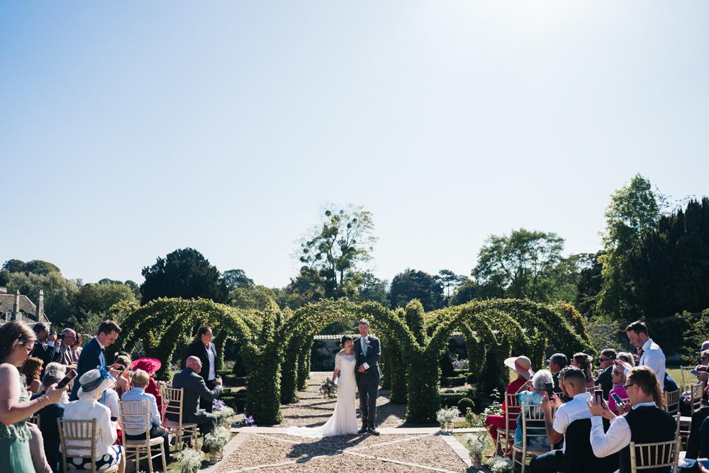 Outdoor Garden Ceremony Castle View Wedding Sally T Photography