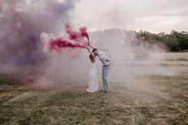 Glevering Hall Wedding Sharon Cudworth Photography Smoke Bomb